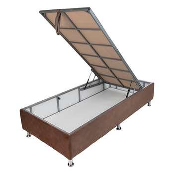 تخت خواب یک نفره آسایش باکس مدل AKA61 سایز 200 × 90 سانتی متر