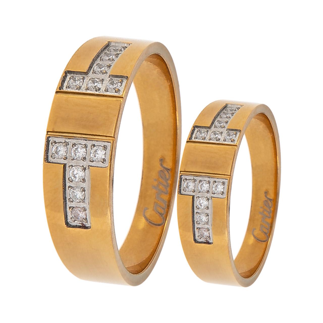 ست انگشتر زنانه و مردانه مون لایت کد R2213