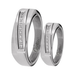 ست انگشتر زنانه و مردانه مون لایت کد R2215