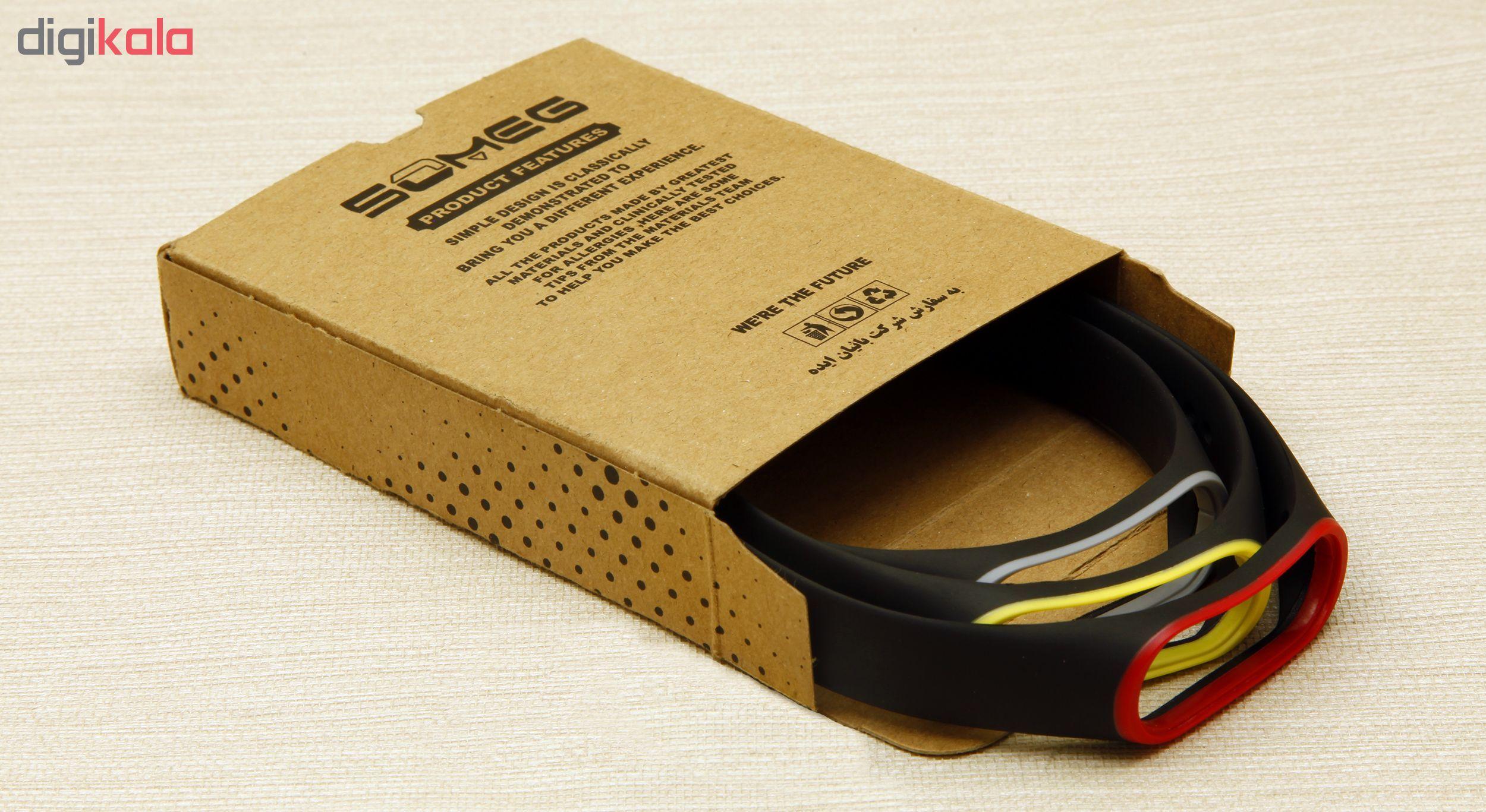 بند سومگ مدل SMG-SP1 مناسب برای مچ بند هوشمند شیائومی Mi Band 4  بسته 3 عددی main 1 12