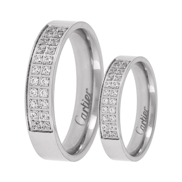 ست انگشتر زنانه و مردانه  مون لایت کد R2224