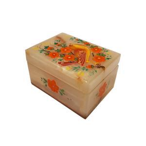 جعبه سنگ مرمر طرح گل و مرغ کد 306.5