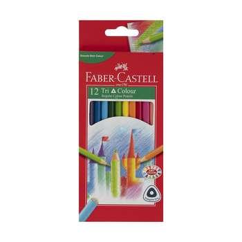 مداد رنگی 12 رنگ فابر کاستل مدل Tri Colour