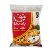 پنیر پیتزا موزارلا رنده شده رامک وزن 500 گرم