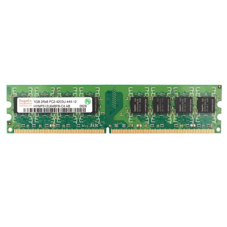 رم دسکتاپ DDR2 تک کاناله 533 مگاهرتز CL4 هاینیکس مدل HYMP512U64BP8-C4-AB ظرفیت 1 گیگابایت