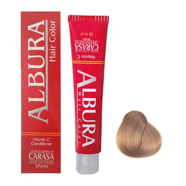 رنگ مو آلبورا مدل carasa شمارهn7-8.0 حجم 100 میلی لیتر رنگ بلوند روشن