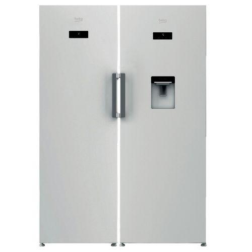 یخچال و فریزر دو قلو بکو مدل RSNE415E23DW-320E23W