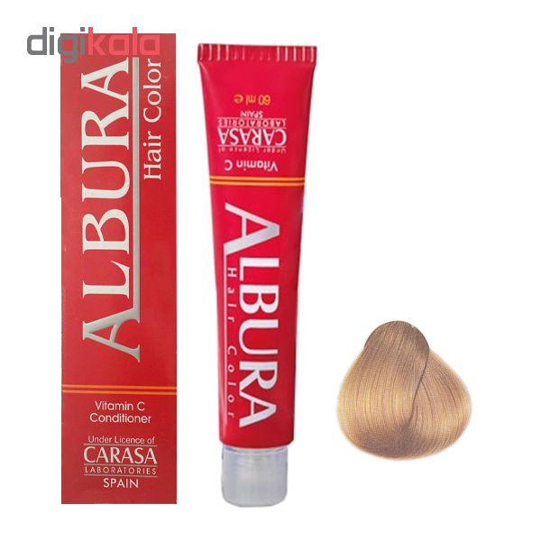 رنگ مو آلبورا مدل carasa شمارهN8-9.0 حجم 100 میلی لیتر رنگ بلوند خیلی روشن