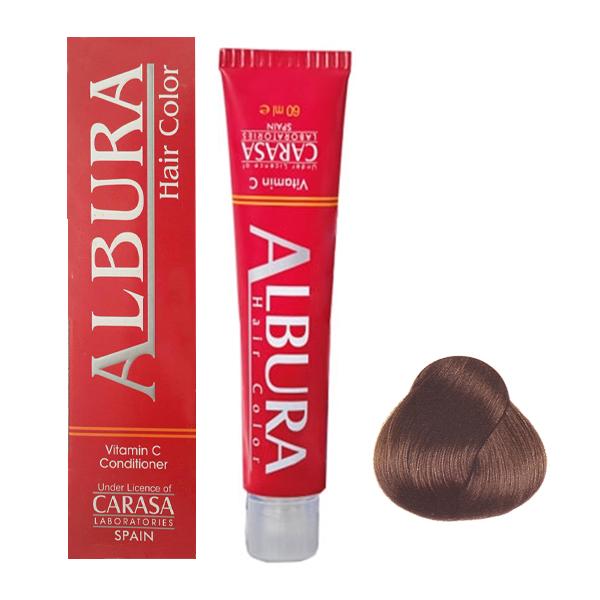 رنگ مو آلبورا مدل carasa شماره 4.3 حجم 100 میلی لیتر رنگ قهوه ای طلایی متوسط