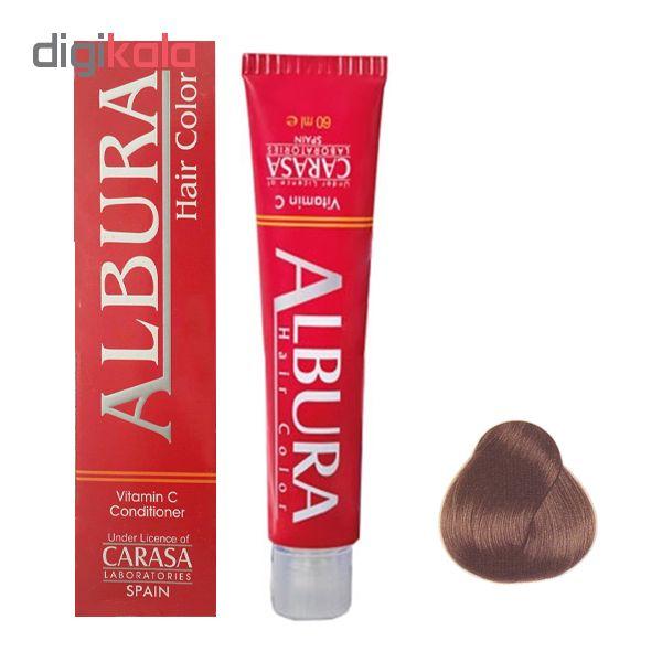 رنگ مو آلبورا مدل carasa شماره 5.3 حجم 100 میلی لیتر رنگ قهوه ای طلایی روشن