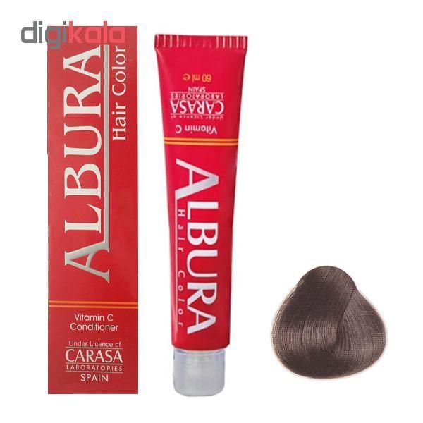 رنگ مو آلبورا مدل carasa شماره N3-4.0 حجم 100 میلی لیتر رنگ قهوه ای متوسط main 1 1