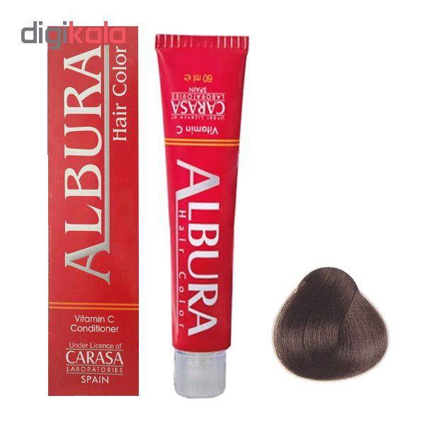 رنگ مو آلبورا مدل carasa شماره N2-3.0 حجم 100 میلی لیتر رنگ قهوه ای تیره