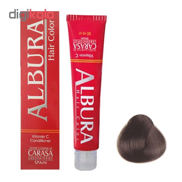 رنگ مو آلبورا مدل carasa شماره N1-1.0 حجم 100 میلی لیتر رنگ مشکی
