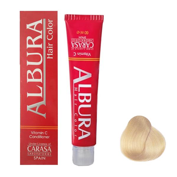 رنگ مو آلبورا مدل carasa شماره N10-11.0 حجم 100 میلی لیتر رنگ بلوند خیلی خیلی روشن