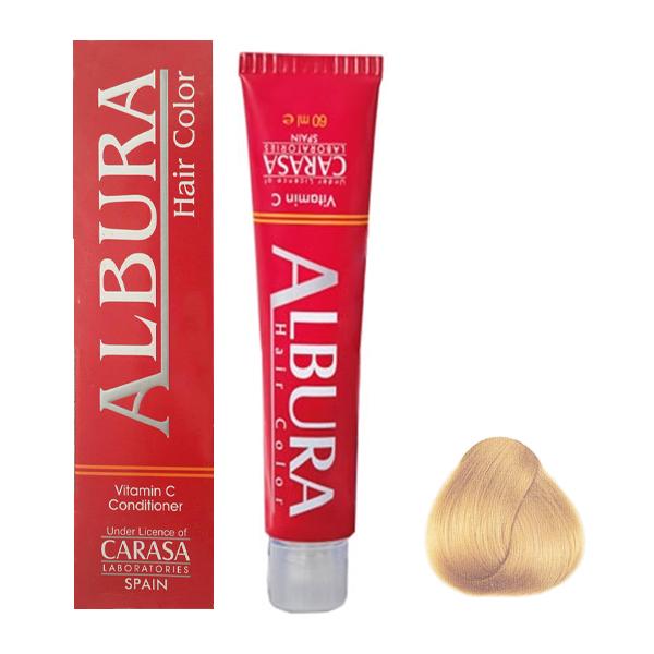 رنگ مو آلبورا مدل carasa شماره 11.3 حجم 100 میلی لیتر رنگ بلوند طلایی خیلی خیلی روشن