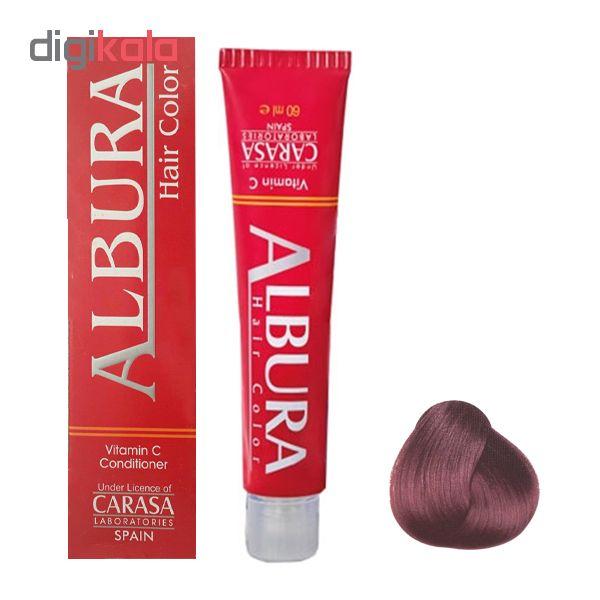 رنگ مو آلبورا مدل carasa شماره 5.5 حجم 100 میلی لیتر رنگ قهوه ای ماهاگونی