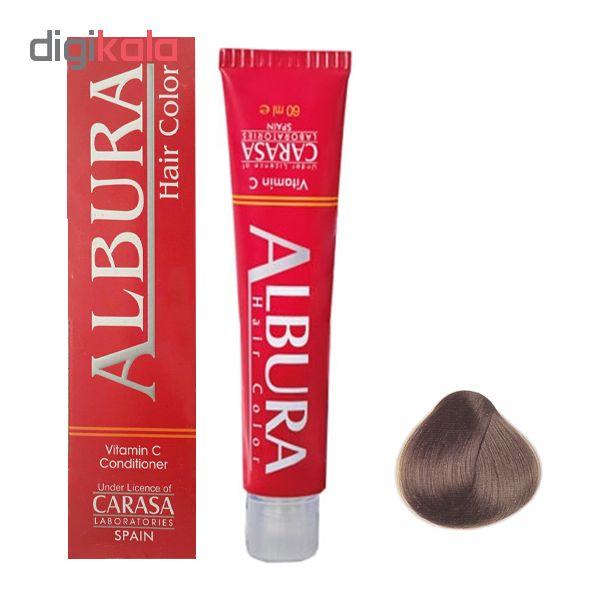 رنگ مو آلبورا مدل carasa شماره N5-6.0 حجم 100 میلی لیتر رنگ بلوند تیره