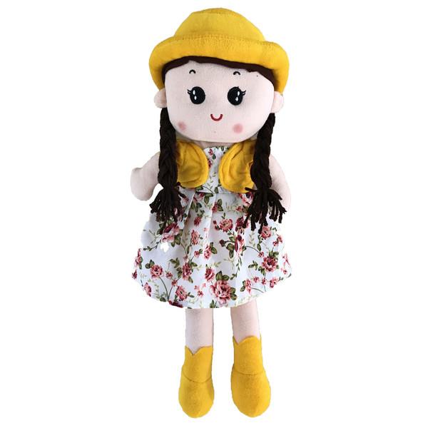 عروسک طرح دختر موبلند L ارتفاع 55 سانتی متر