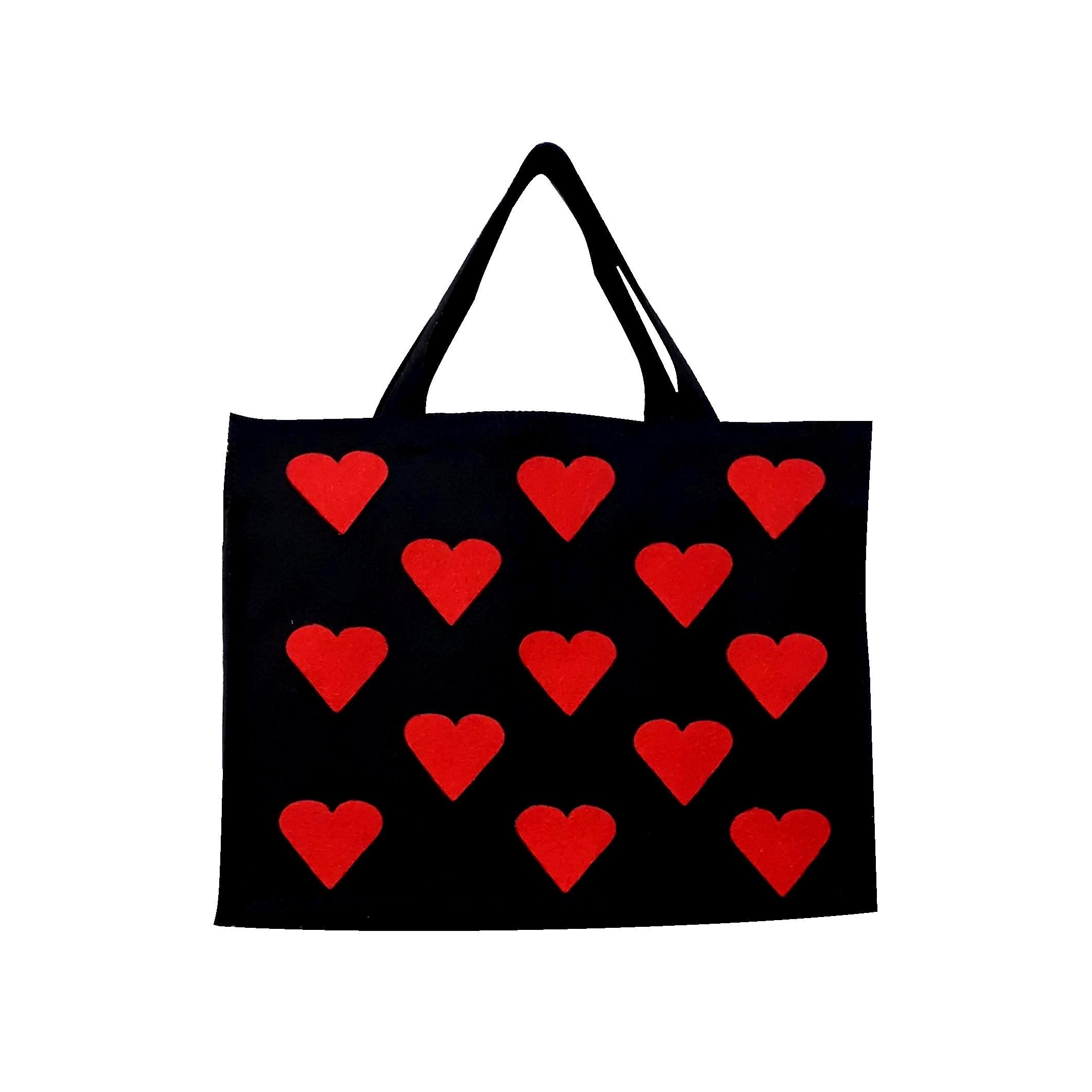 کیف دستی نمدی مدل قلب