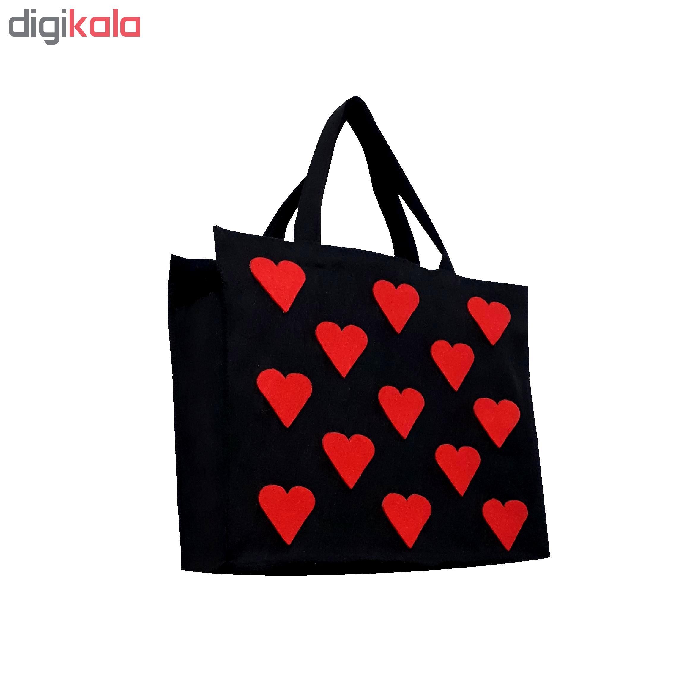 خرید                       کیف دستی نمدی مدل قلب