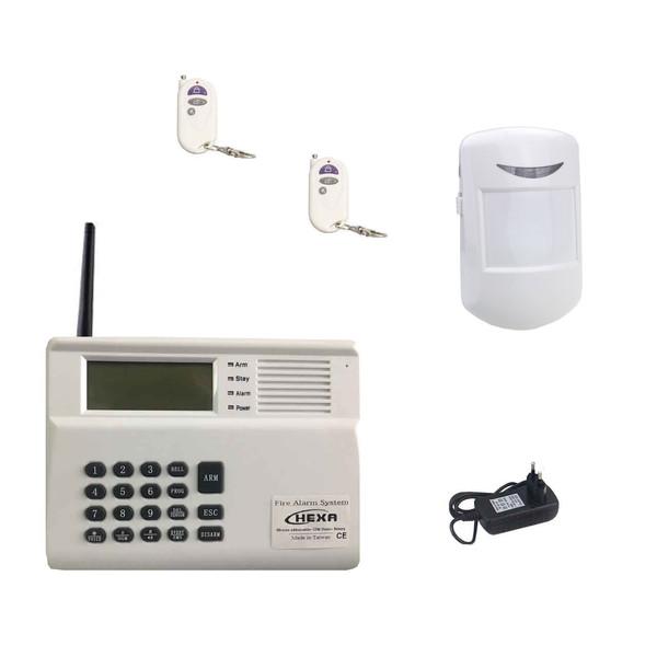 سیستم حفاظتی امنیتی دزدگیر سیم کارتی بی سیم هگزا مدل 99PG