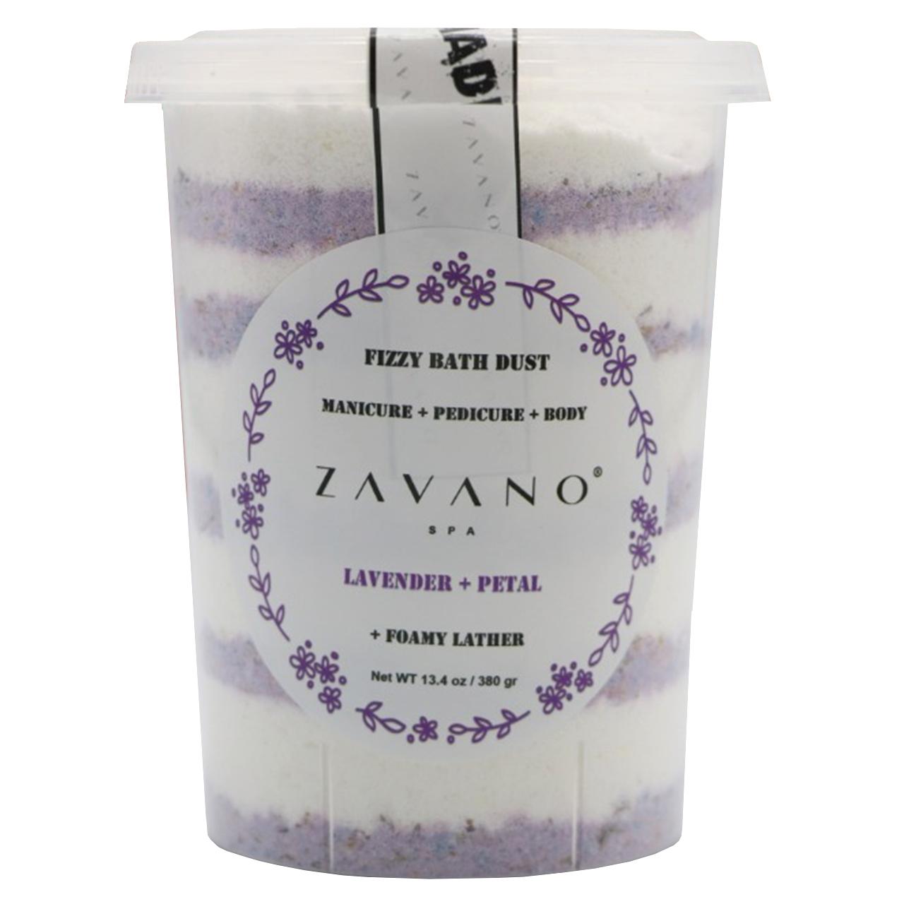 پودر مانیکور و پدیکور زاوانو مدل Lavender وزن 380 گرم