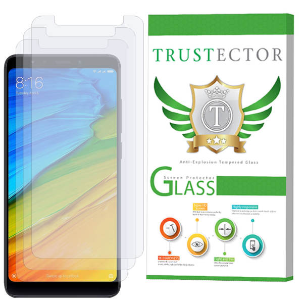محافظ صفحه نمایش تراستکتور مدل GLS مناسب برای گوشی موبایل شیائومی Redmi 5 بسته 3 عددی