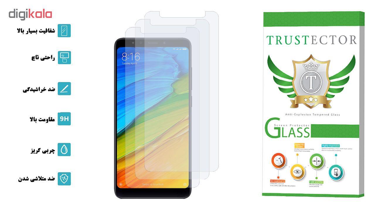 محافظ صفحه نمایش تراستکتور مدل GLS مناسب برای گوشی موبایل شیائومی Redmi 5 بسته 3 عددی main 1 2
