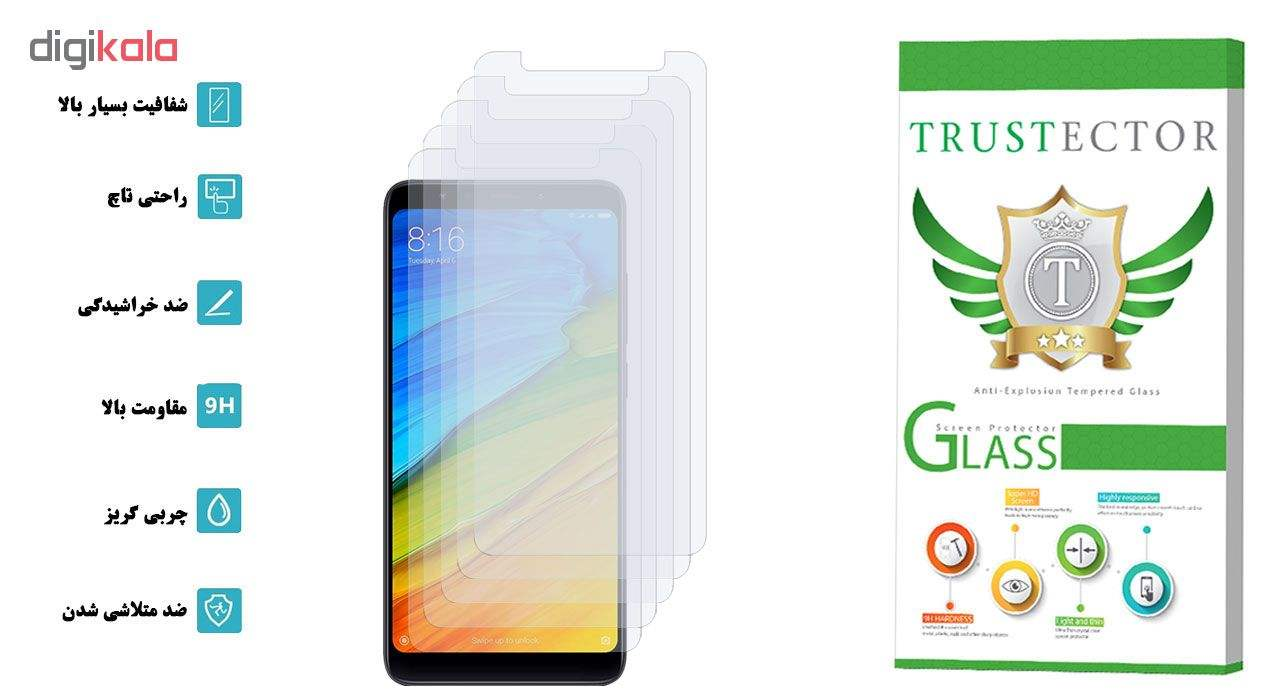 محافظ صفحه نمایش تراستکتور مدل GLS مناسب برای گوشی موبایل شیائومی Redmi 5 بسته 5 عددی main 1 2