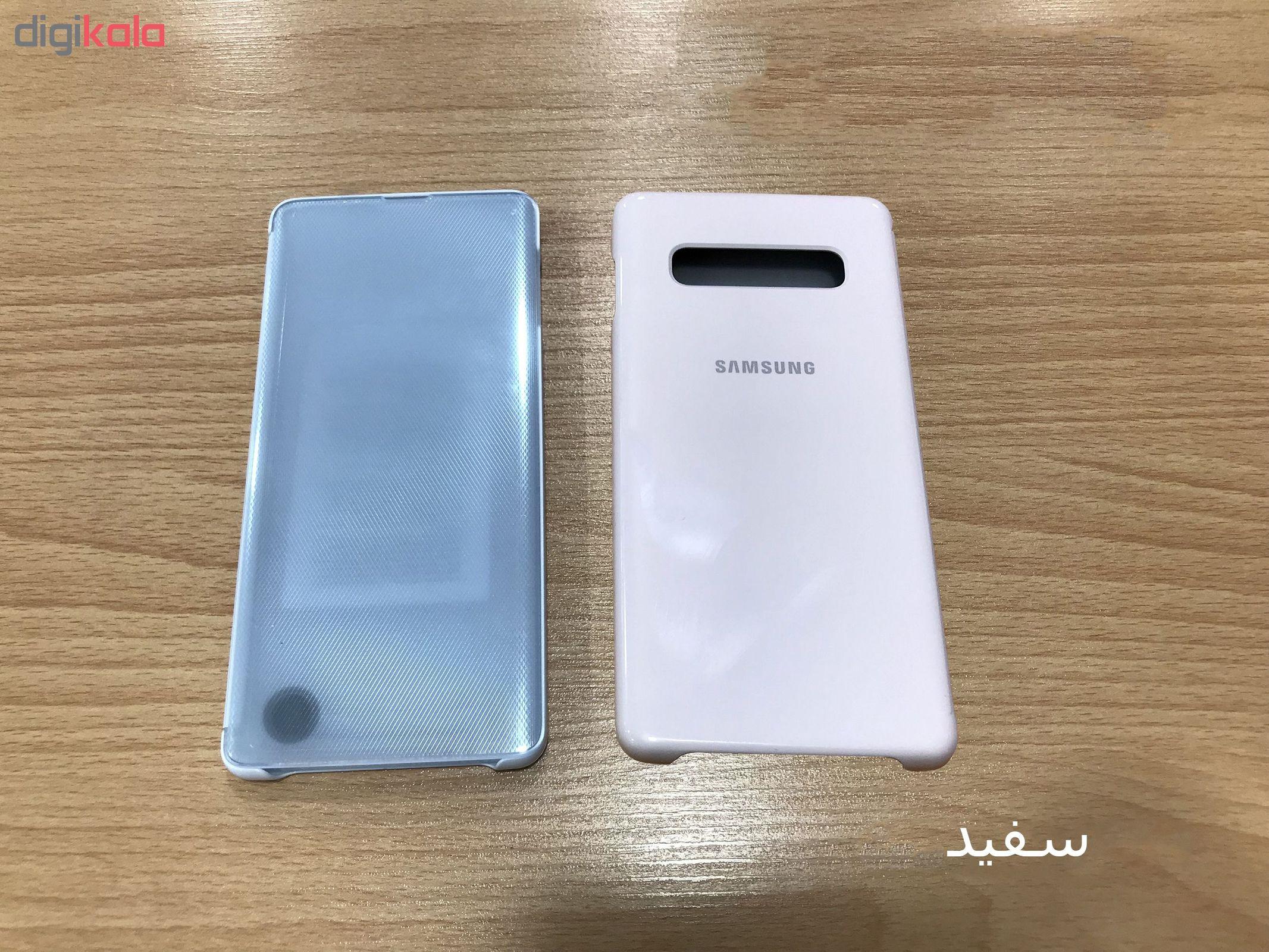 کیف کلاسوری سامسونگ مدل Clear View Standing مناسب برای گوشی موبایل سامسونگ Galaxy S10 Plus main 1 6