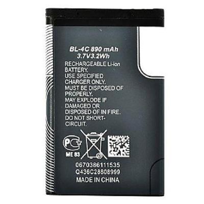 باتری موبایل مدل BL-4C ظرفیت 890 میلی آمپر ساعت مناسب برای گوشی موبایل نوکیا