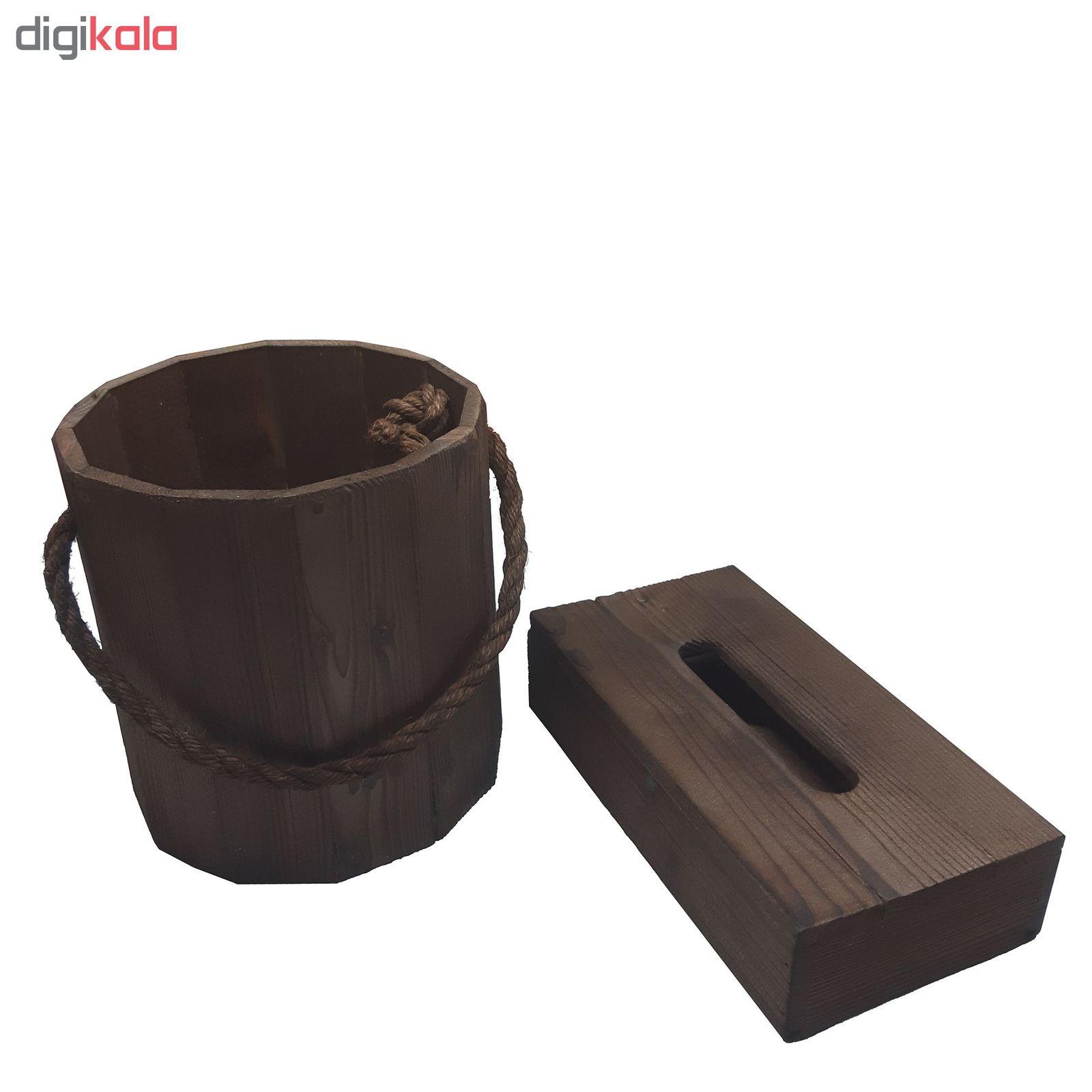 ست سطل و جا دستمال کاغذی مدل CHOBI2 main 1 3