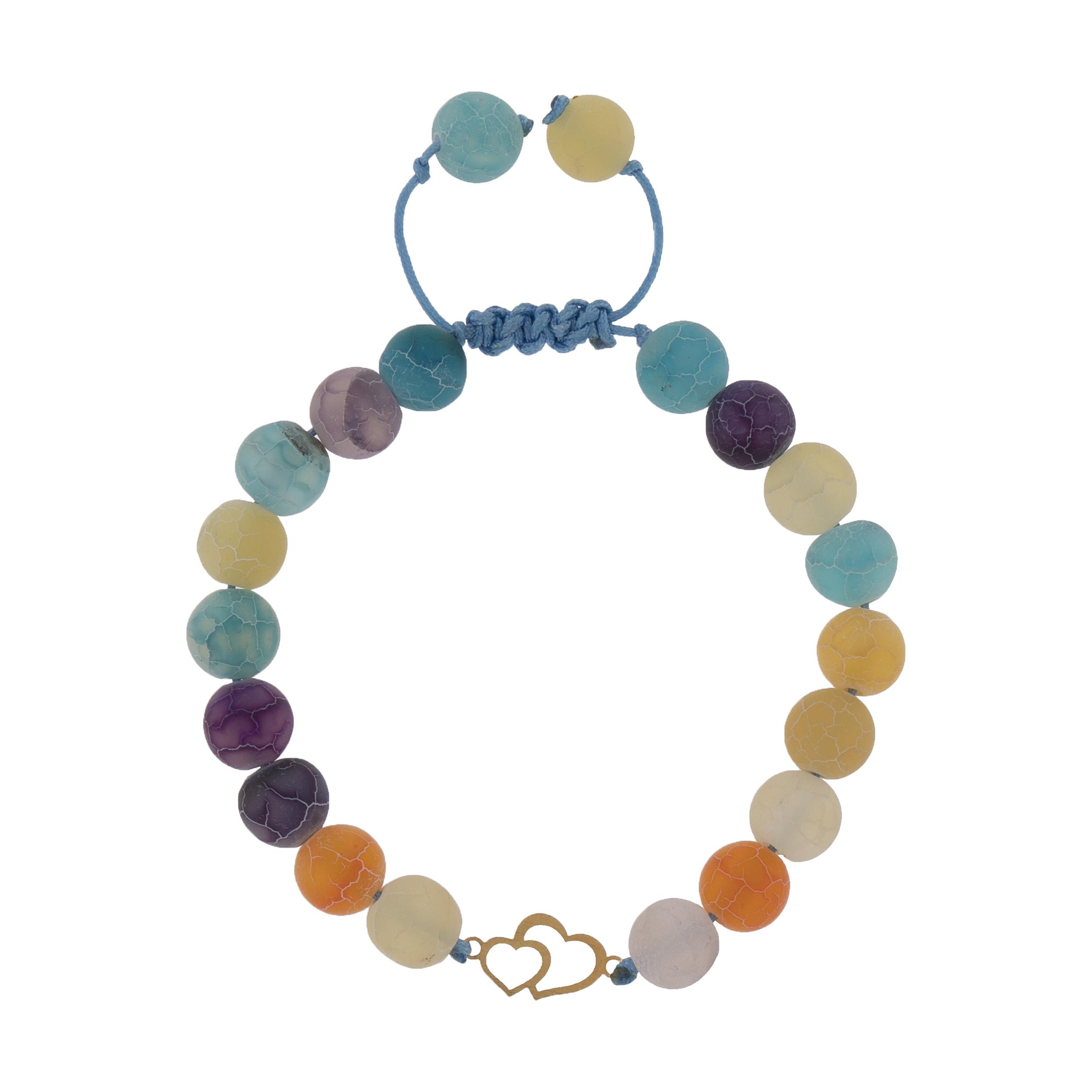 دستبند طلا 18 عیار دخترانه کد 208