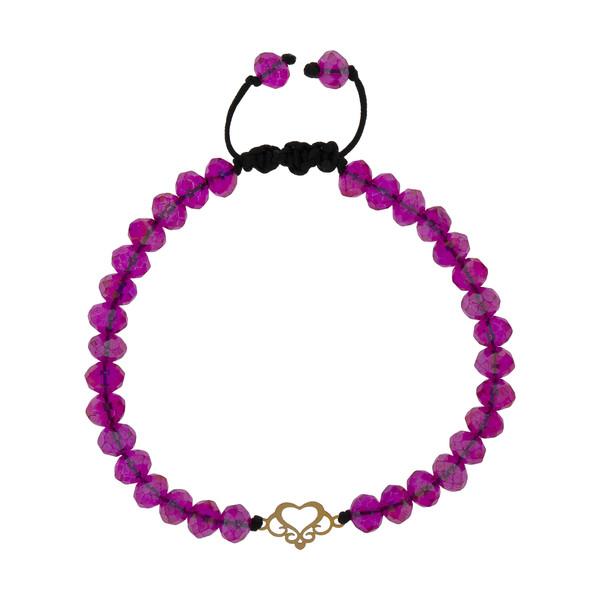 دستبند طلا 18 عیار دخترانه کد 204