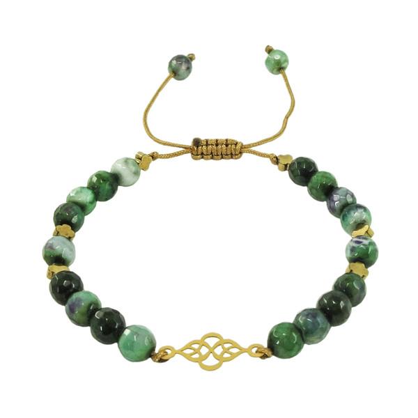 دستبند طلا 18 عیار زنانه کد z1107