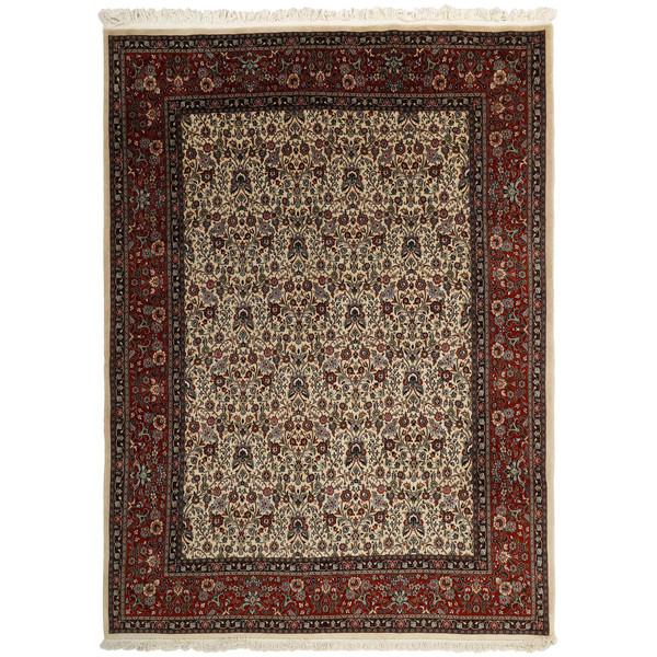 فرش دستباف نه متری مدل مود گل ابریشم کد RS