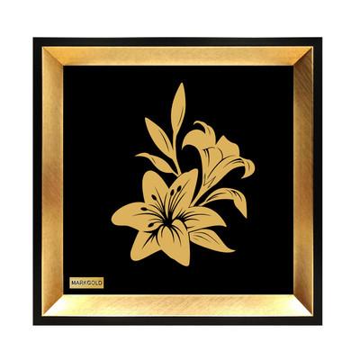 Photo of تابلو ورق طلا مارک گلد طرح  گل لیلیوم کوچک