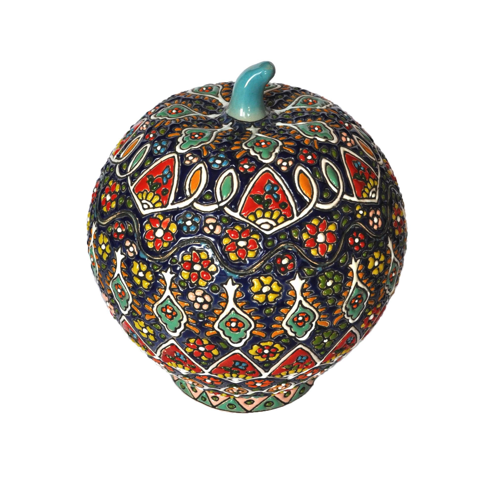 شکلات خوری میناکاری طرح سیب پازلی کد 1601008