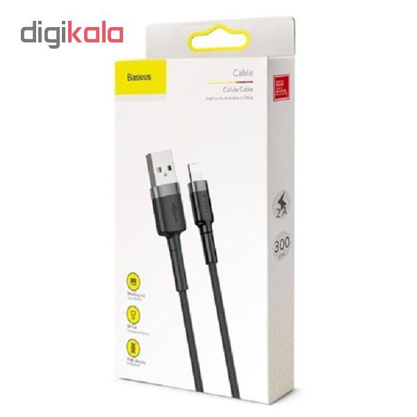 کابل تبدیل USB به لایتنینگ باسئوس مدل CAFULE طول 3 متر main 1 3