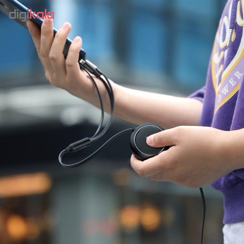 کابل تبدیل USB به USB-C/microUSB/لایتنینگ باسئوس مدل CAMLT-JH01 طول 1.2 متر main 1 9