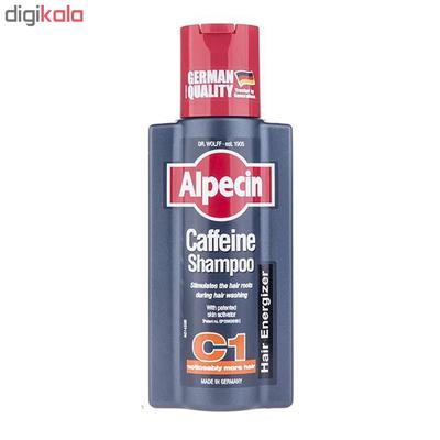 شامپو مو آلپسین مدل Caffeine C1 حجم 250 میلی لیتر مجموعه 2 عددی
