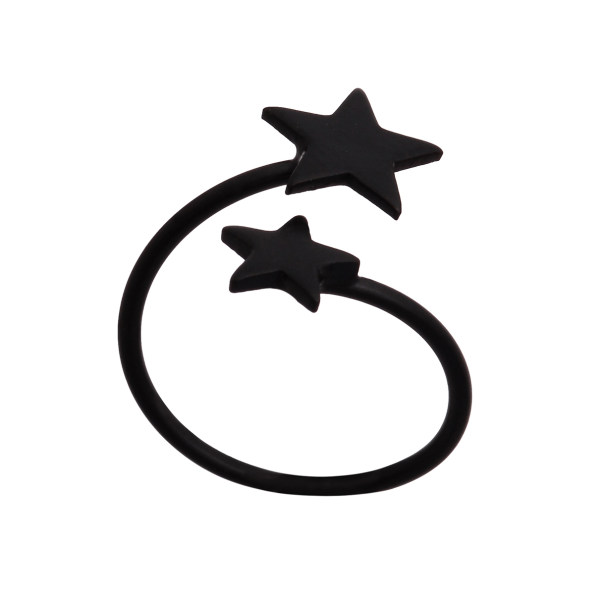 بند انگشتی زنانه طرح ستاره کد BA1033