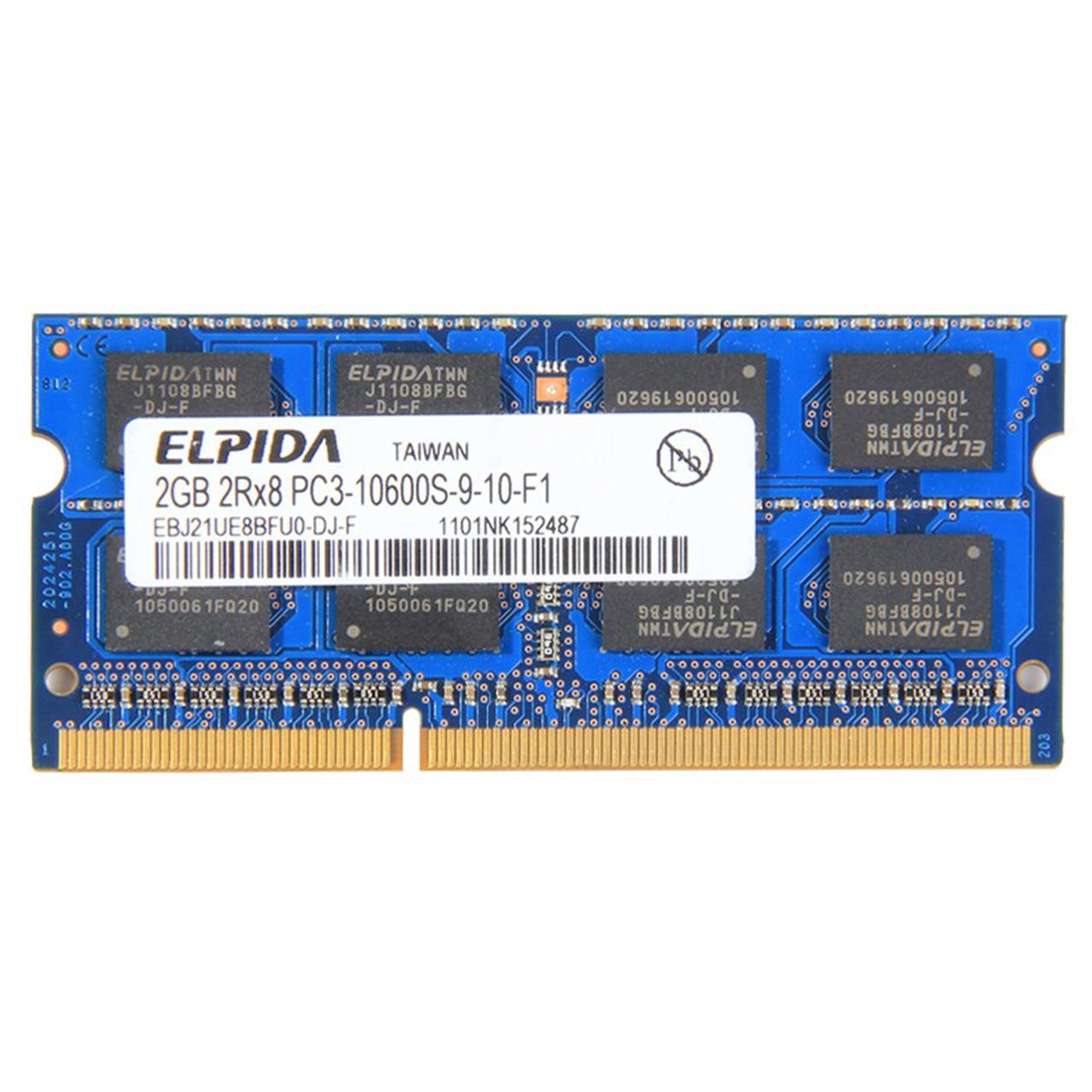 رم لپ تاپ DDR3 تک کاناله 1333 مگاهرتز PC3 الپیدا مدل 10600S ظرفیت 2 گیگابایت