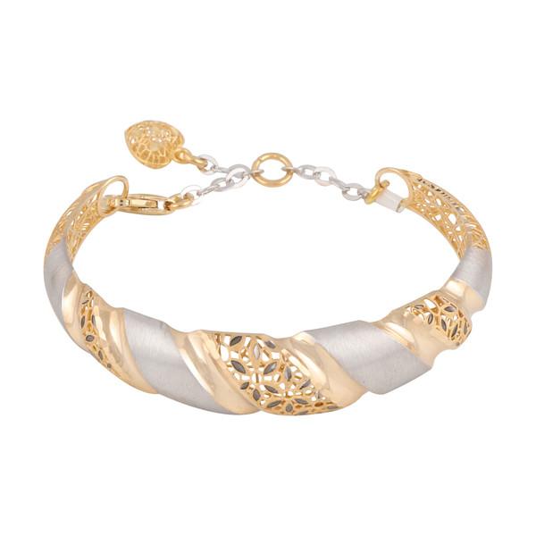 دستبند طلا 18 عیار دخترانه کد G514