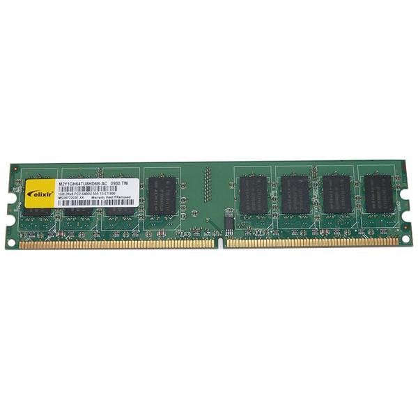رم دسکتاپ DDR2 تک کاناله 800 مگاهرتز CL5 الیکسیر مدل M2Y1GH64TU8HD6B-AC ظرفیت 1 گیگابایت