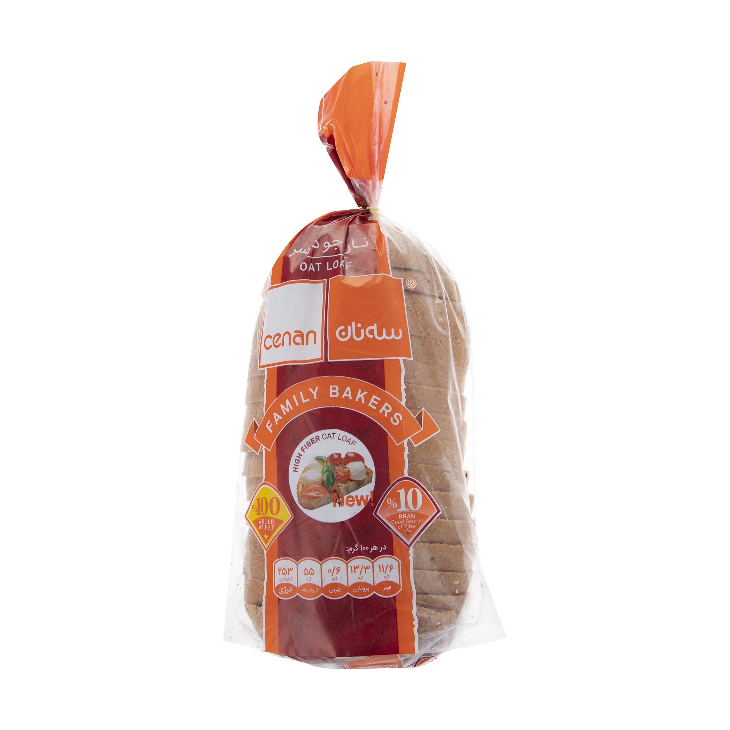 نان جو دوسر سه نان مقدار 540 گرم