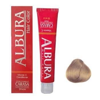 رنگ مو آلبورا مدل carasa شماره 7.47 حجم 100 میلی لیتر رنگ بلوند نسکافه ای