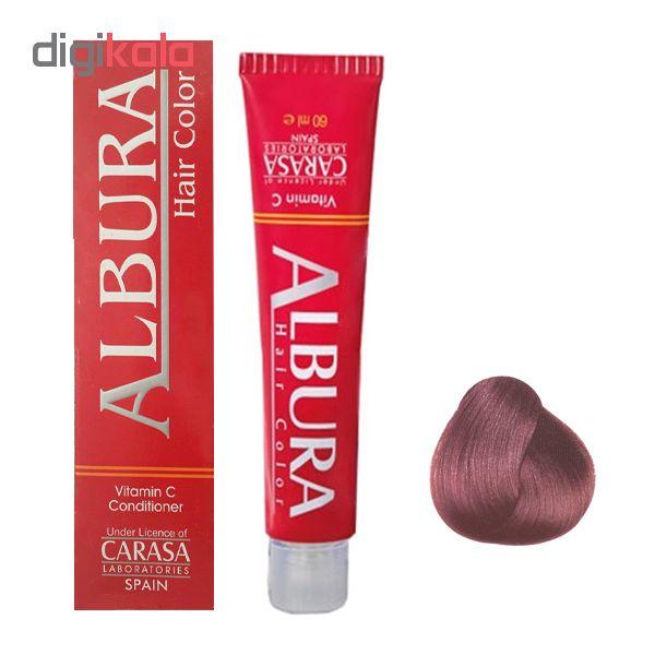 رنگ مو آلبورا مدل carasa شماره 6.5 حجم 100 میلی لیتر رنگ بلوند ماهاگونی