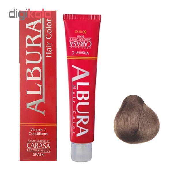 رنگ مو آلبورا مدل carasa شماره N6-7.0 حجم 100 میلی لیتر رنگ بلوند متوسط