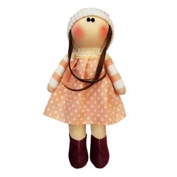 عروسک روسی طرح  کلاه منگوله سفید کد MRK14 ارتفاع 33 سانتی متر